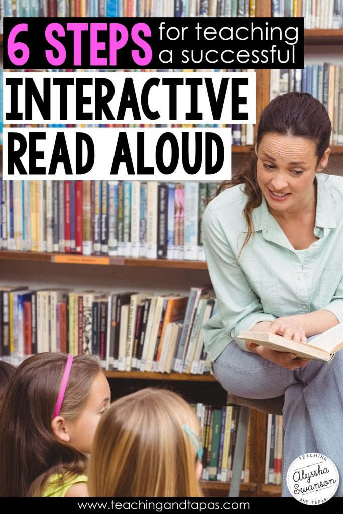 Interactive Read Aloud In Six Easy Steps Teaching And Tapas