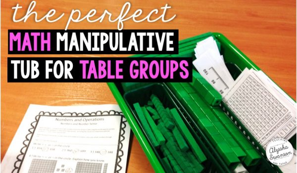 Organizing your Math Manipulatives