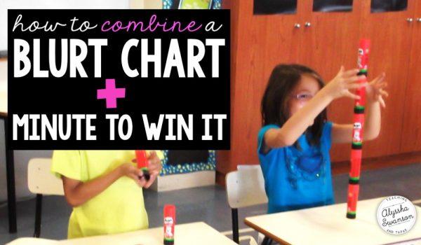 Blurt Chart+Minute to Win It Fridays