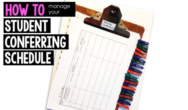 How to Manage Your Student Conferring Schedule