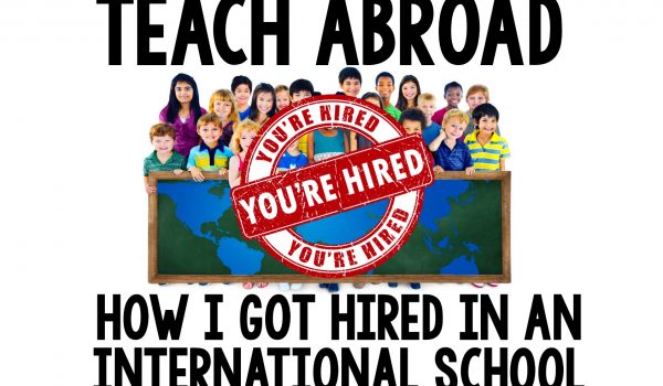 Teach in an International School