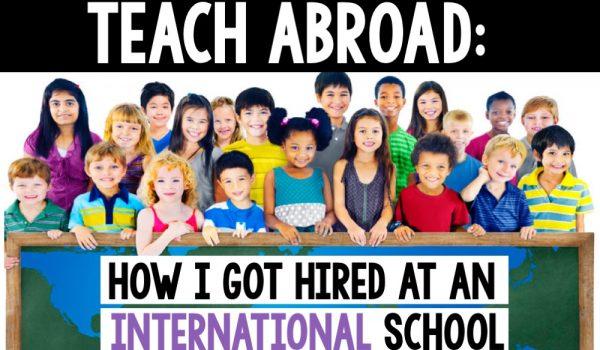 Teach in an International School