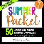 1st grade summer pack