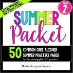 2nd grade summer pack