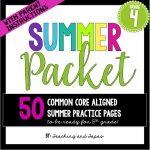4th grade summer pack