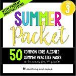 3rd grade summer pack