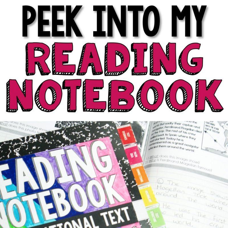 Peek Into My Reading Notebook