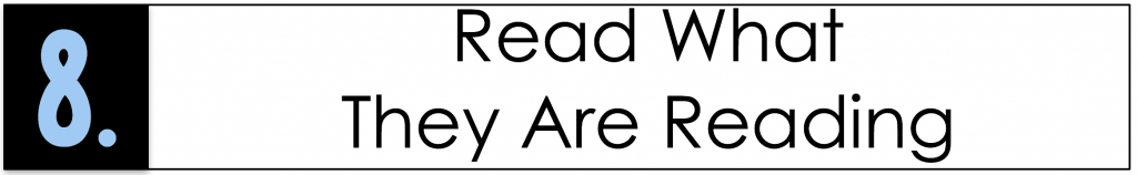 Tip for teaching reluctant readers: read what they are reading