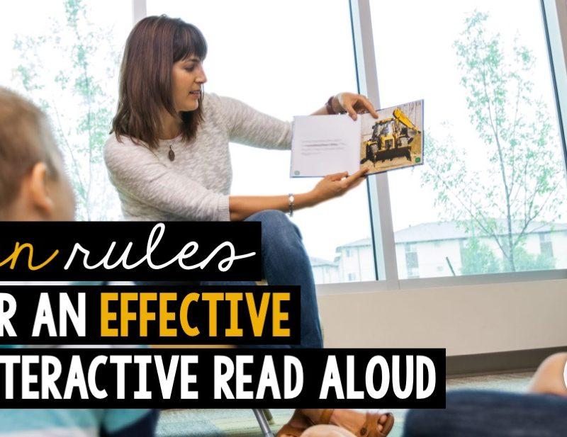 Interactive Read Aloud: Ten Rules