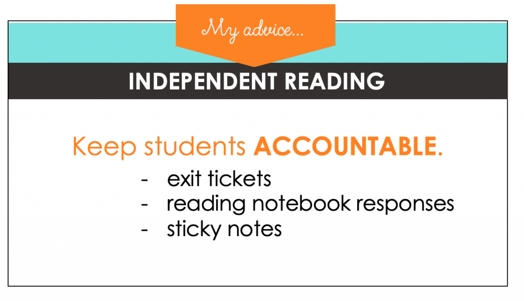 Independent reading time needs some accountability