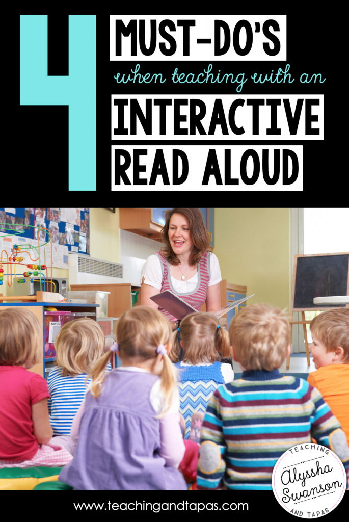 teaching reading with interactive read alouds